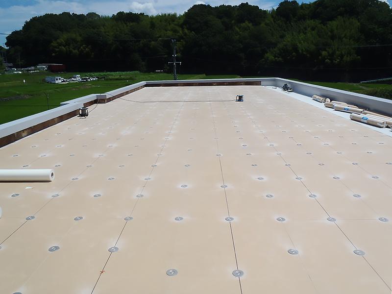屋上断熱防水工法